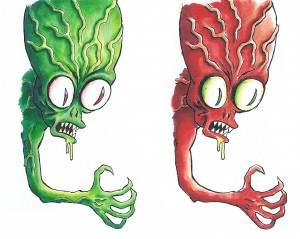 And colored monsters. Can't stop flooding ideas and imagination!