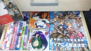 "What a selection of manga. Everything from ""Neon Genesis Evangelion,"" Dragon Ball,"" and ""Tokyo Mew Mew."""