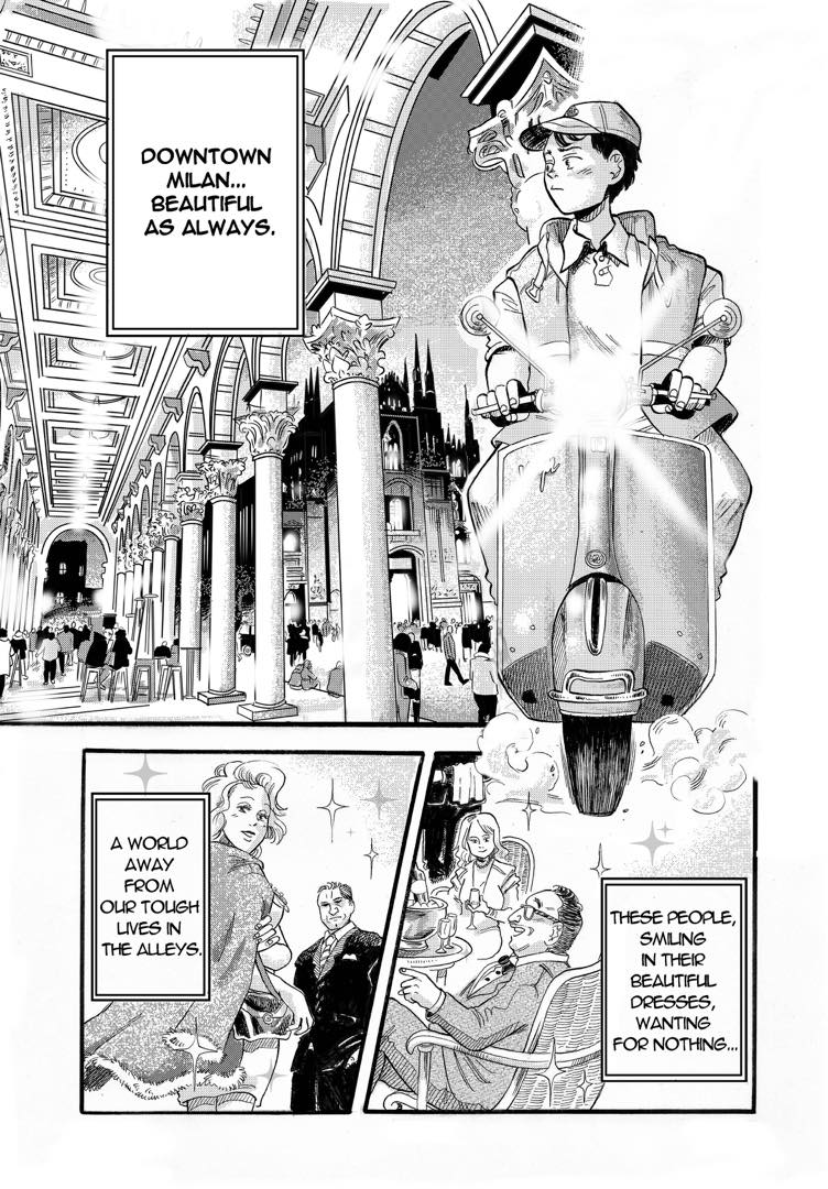 """A page from the English version of """"Max of the Back Alley"""" - go on the bottom of this article to read the whole translated manga!"""